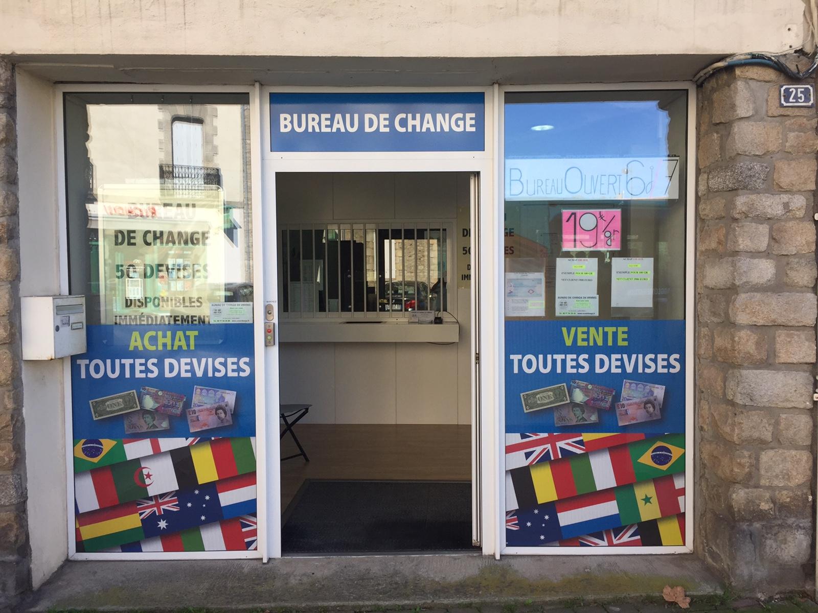 le bureau de change a vannes est maintenant ouvert