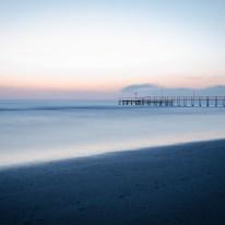 Die erste gelungene Langzeitbelichtung am Strand in Rimini und vor dem Sonnenaufgang!