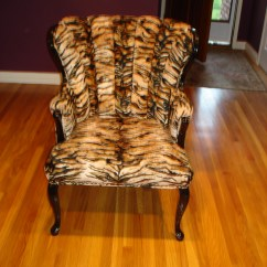 Tiger Print Dining Chairs Flip Sleeper Chair Photo 3