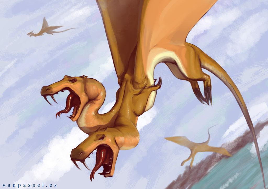 #Smaugust - Dragón bicéfalo