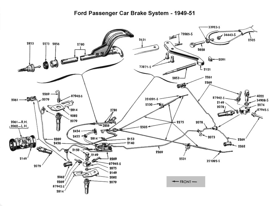 Flathead Parts Drawings-Brakes
