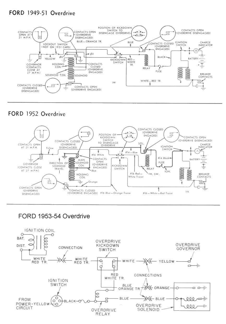 medium resolution of wiring for 1949 54 ford car overdrive