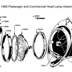 Wiring Diagram Automotive 1992 Toyota Pickup Ignition Flathead Electrical Diagrams Headlamp For 1940 Cars