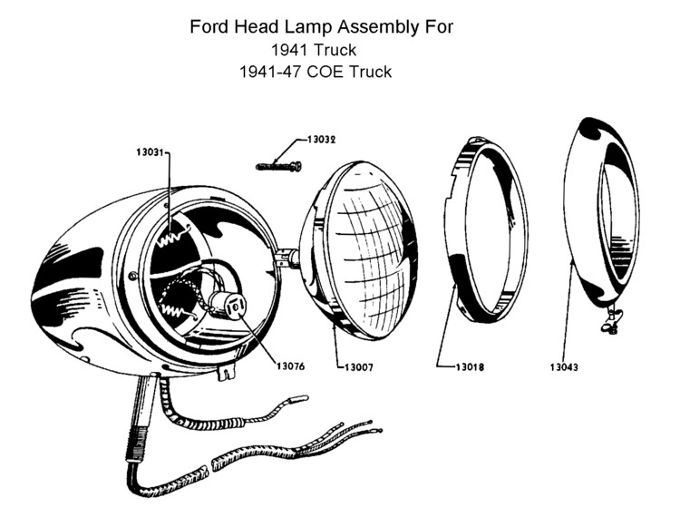 lamp wiring diagram welder plug flathead electrical diagrams headlamp for 1941 truck 41 47 coe