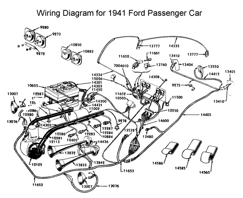 Wiring Diagram 1948 Ford Convertible. Ford. Auto Parts
