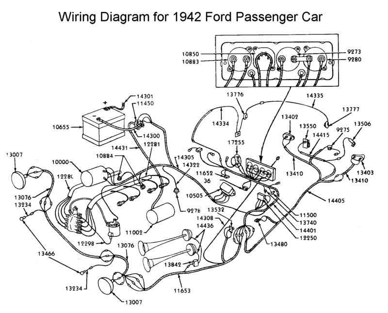 1942 Mercury Wiring Diagram, 1942, Free Engine Image For