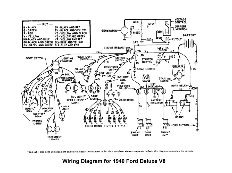 1940 ford headlight switch wiring diagram