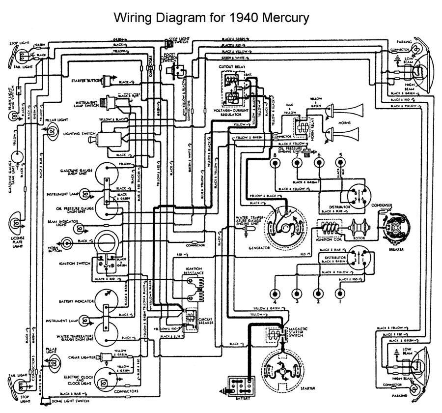1954 Ford Dash Wiring Diagram 1955 Pontiac Wiring-Diagram