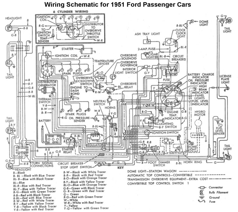 1951 ford f1 wire diagram