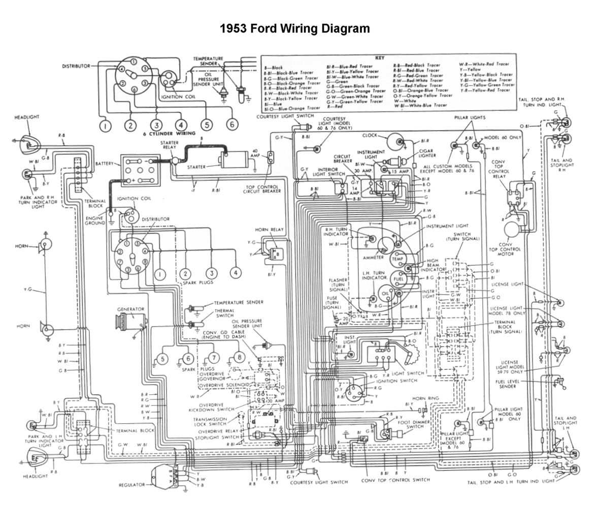 hight resolution of wiring for 1953 ford car flathead electrical