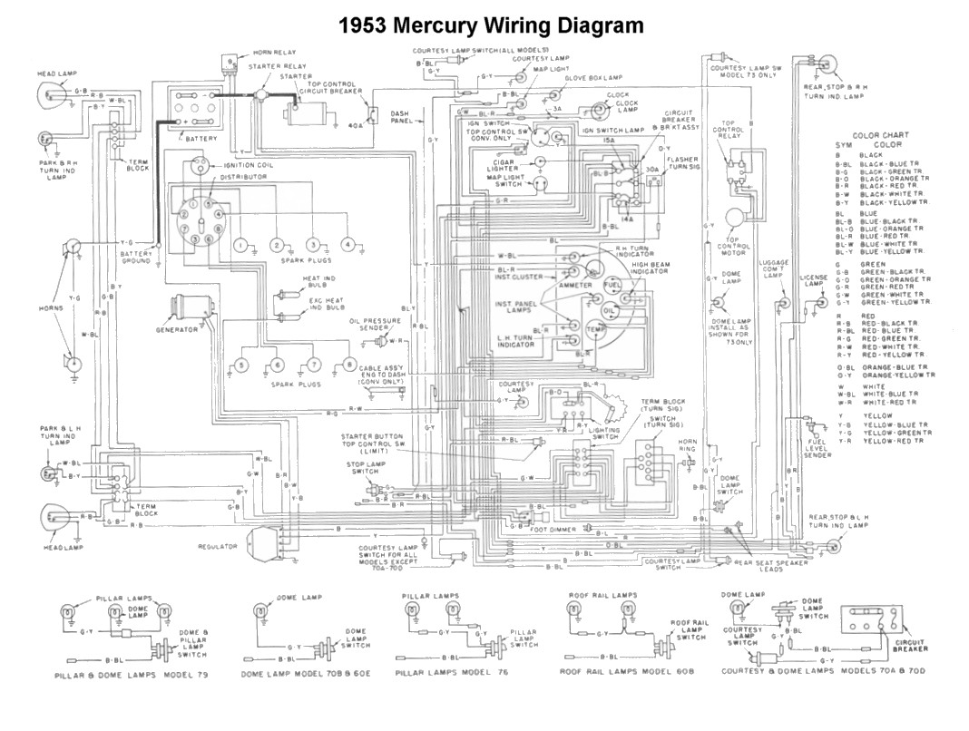 hight resolution of flathead electrical wiring diagrams 1954 pontiac wiring 1951 mercury wiring diagram