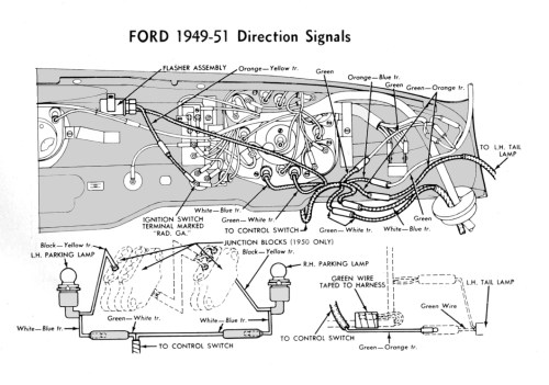 small resolution of turn signal wire harness for 1949 51 ford car