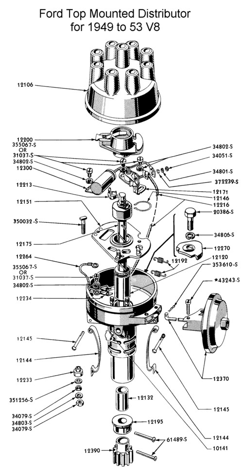 Flathead Tuneup Specifications for 1949-53 V8 (239 & 255)