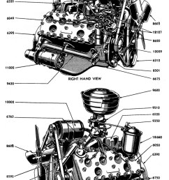 complete engine for 1949 left right view  [ 700 x 1199 Pixel ]