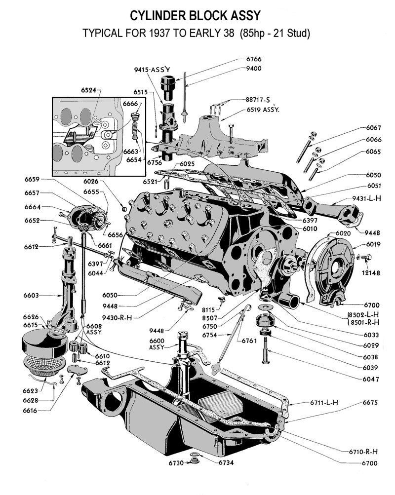 medium resolution of flathead parts drawings engines rh vanpeltsales com v6 engine diagram v6 engine diagram