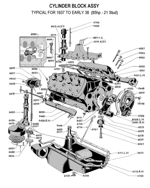small resolution of flathead parts drawings engines rh vanpeltsales com v6 engine diagram v6 engine diagram