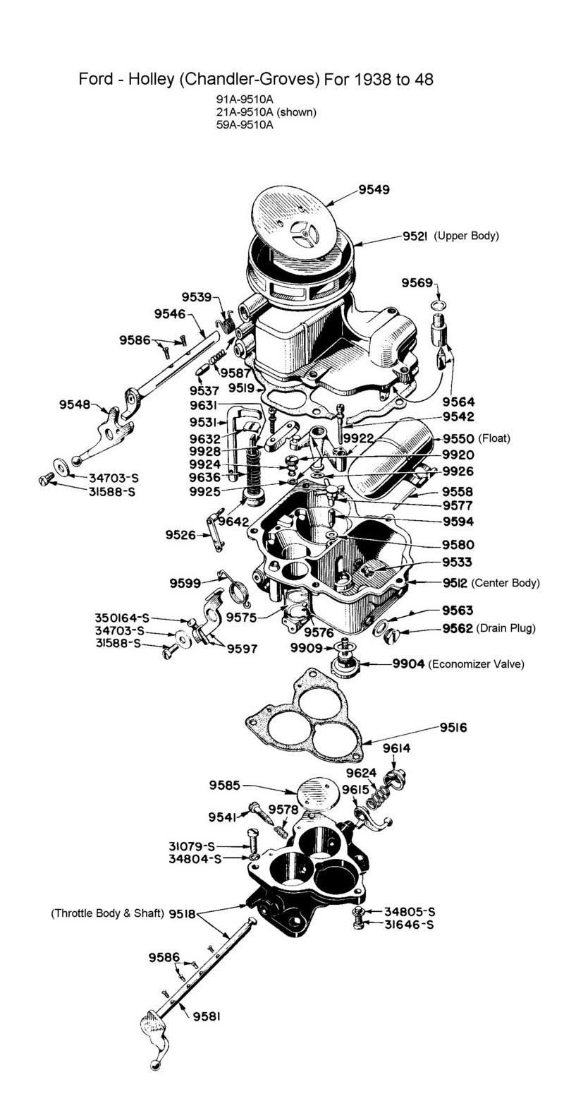 Flathead Parts Drawings-Fuel System