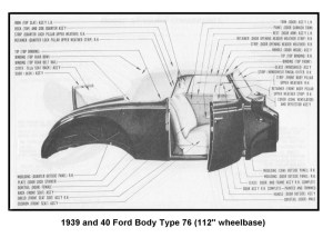 Flathead Parts Drawings Body