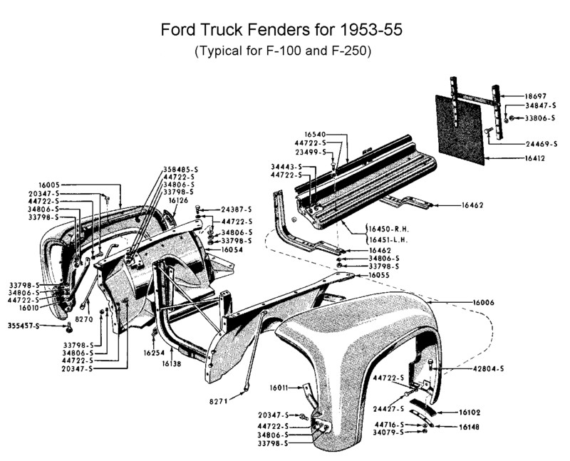 Flathead Parts Drawings- Radiators