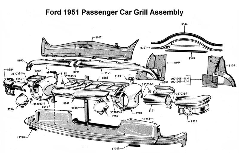 1951 ford truck radiator
