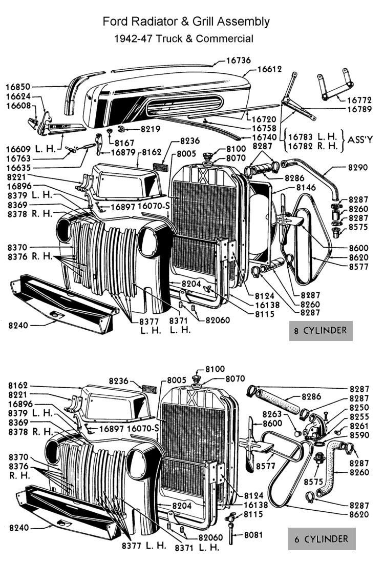 medium resolution of flathead parts drawings radiators ford truck radiator diagram