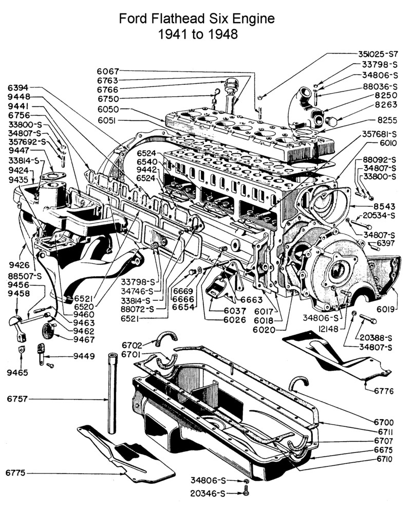 Chevrolet 235 261 engine diagram swengines engine diagram pinterest diagram engine and chevrolet