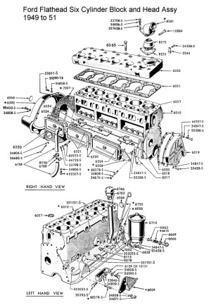 Ford Flathead Six Parts Drawings For the Six Cylinder
