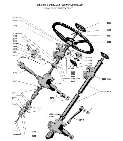 small resolution of  steering gear wheel for 1937 car