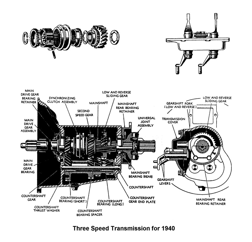 Flathead Parts Drawings-Transmissions