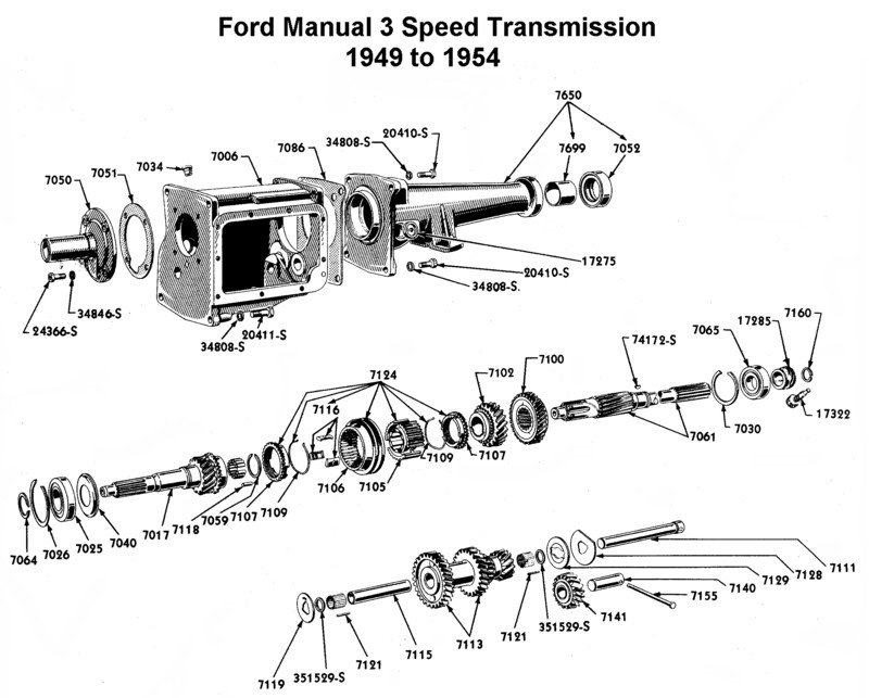 Ford flathead transmission identification