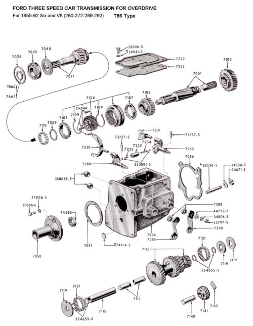 small resolution of flathead parts drawings transmissions 1955 mercury 1951 mercury clutch diagram