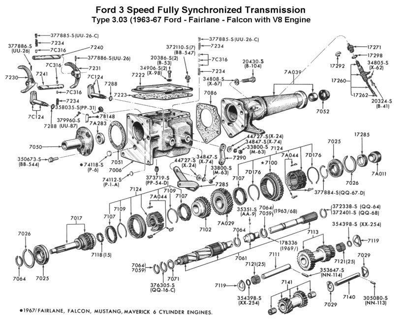 porsche 911 engine diagram of parts mercedes benz wiring schematic and diagrams three speed std trans for 196367 ford v8 type 303 at