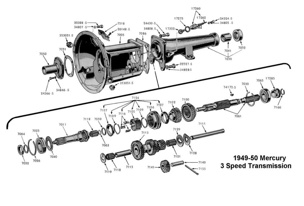 medium resolution of flathead parts drawings transmissions lincoln zephyr transmission diagram