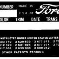 Early ford serial numbers for cars and trucks manufactured for the usa