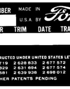 Early ford serial numbers for cars and trucks manufactured the usa market from to also rh vanpeltsales