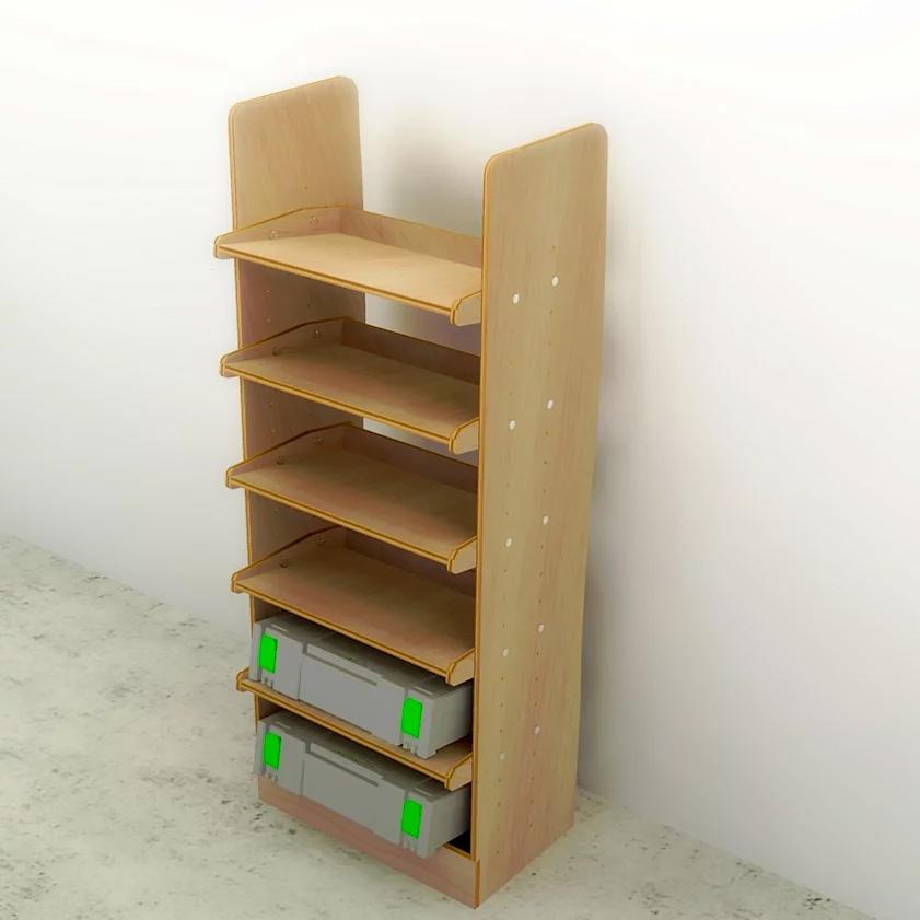drill box power tool box 500mm plywood storage rack