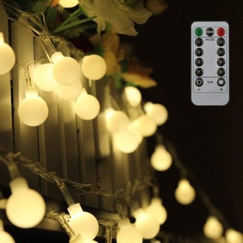 guirnalda luces led exterior o interior