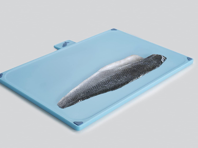 tabla de cocina azul