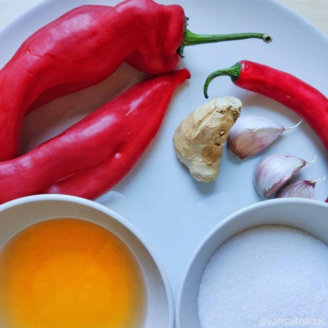 Ingredientes salsa chile dulce