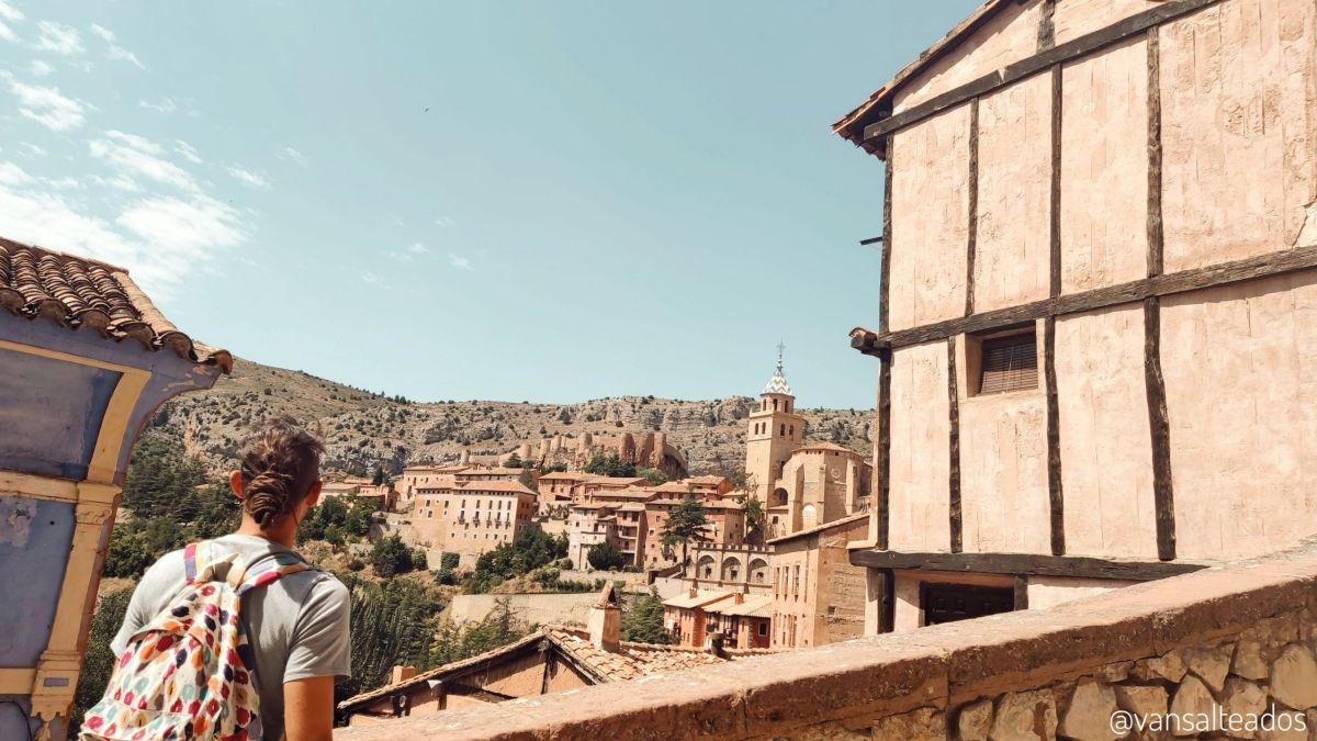 Vista del pueblo de Albarracín, Teruel.