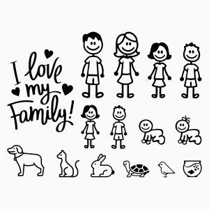 vinilos family camper