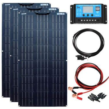 kit panel solar flexible caravana 300W