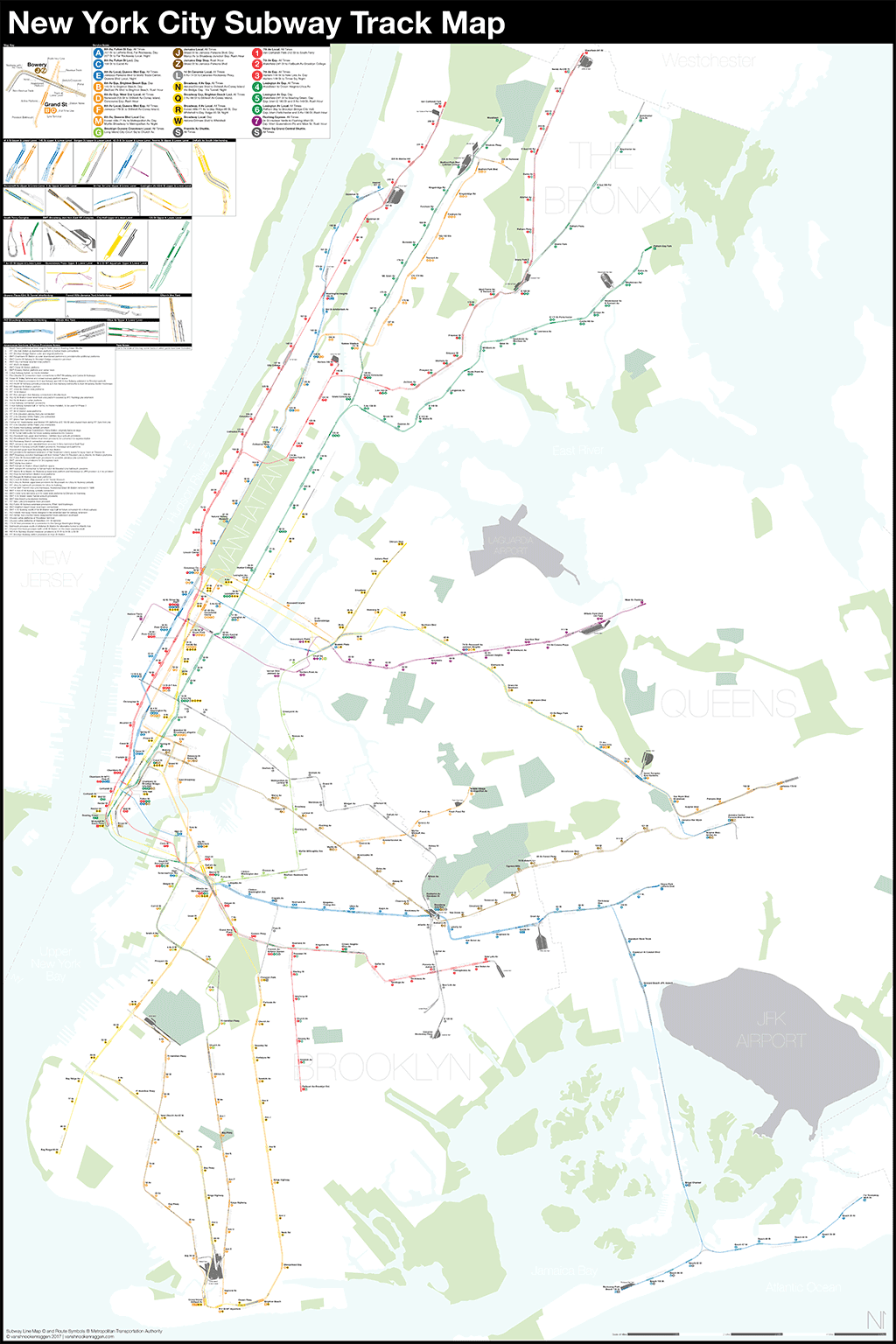 hight resolution of a complete and geographically accurate nyc subway track map click the image to download the pdf map