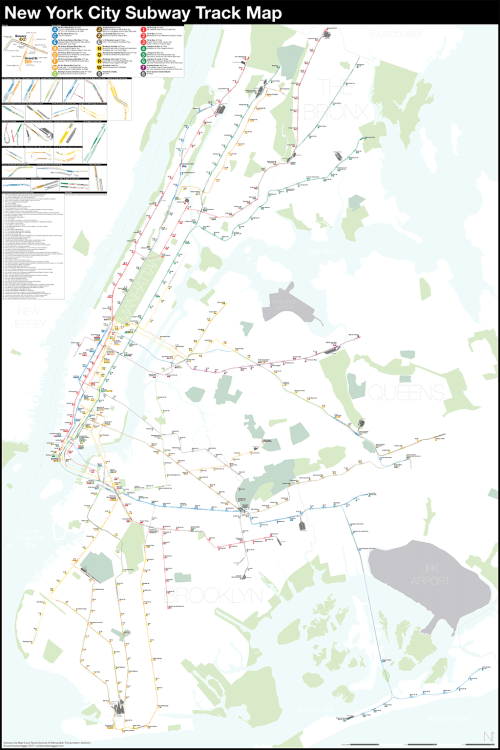 small resolution of a complete and geographically accurate nyc subway track map click the image to download the pdf map