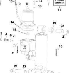 brp evinrude en 2010 90 e90dslise trim tilt hydraulic assembly [ 2500 x 3334 Pixel ]