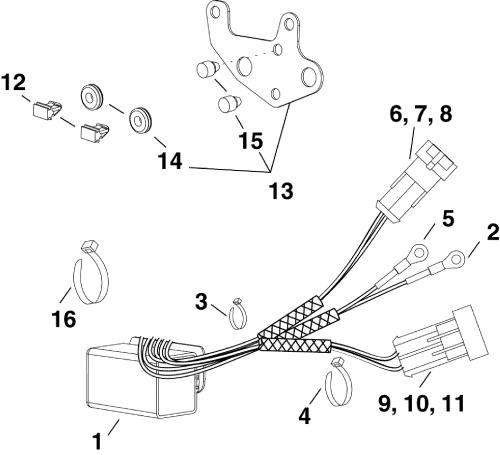 small resolution of brp evinrude en 2012 25 e25dplina trim tilt relay