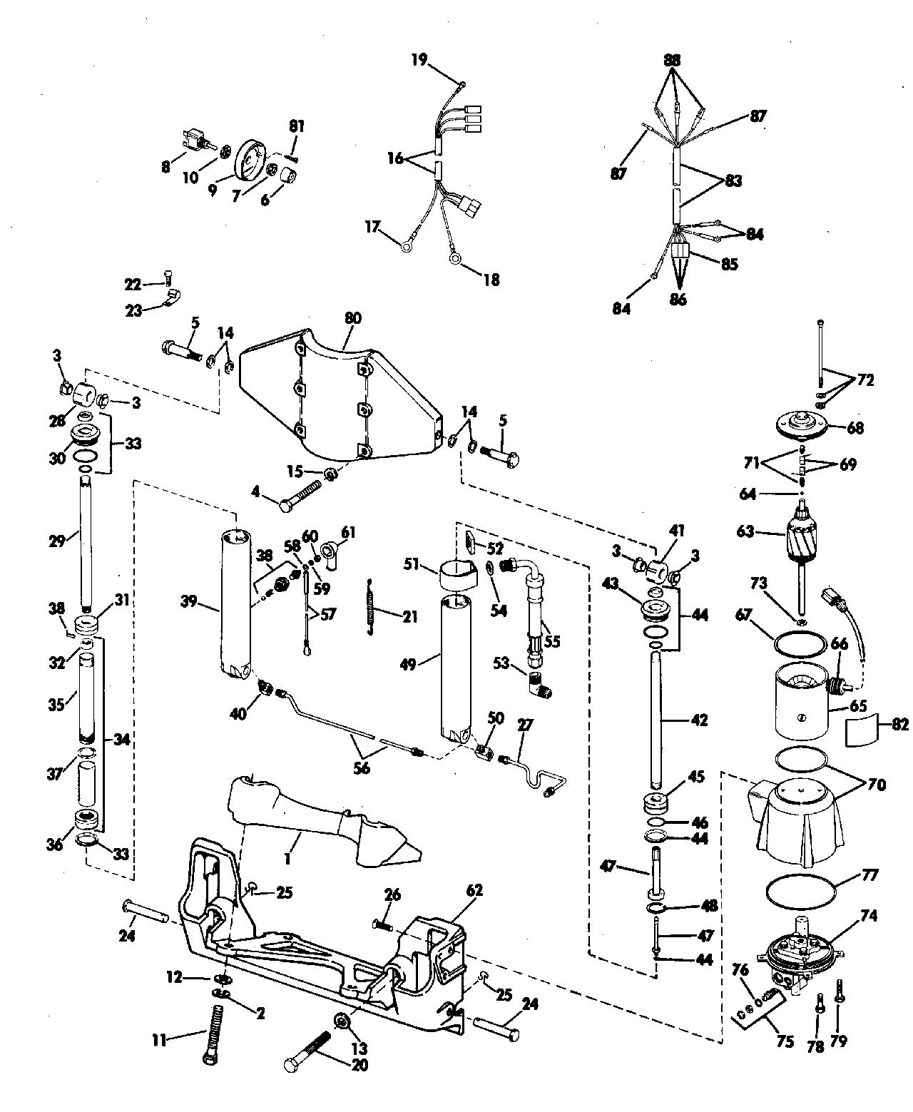 hight resolution of brp evinrude en 1981 60 e60tlcih 1981 power tilt and trim