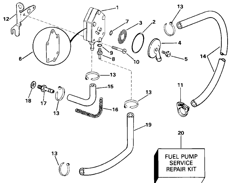 Evinrude Fuel Pump Diagram