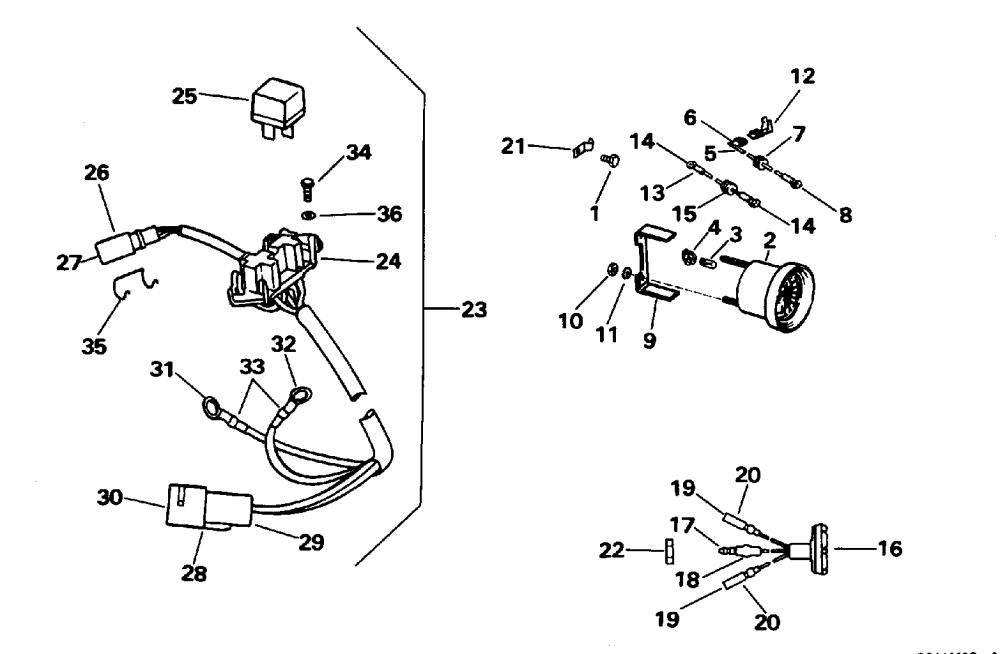 medium resolution of brp evinrude en 1996 35 e35qledc 1996 power trim tilt electrical