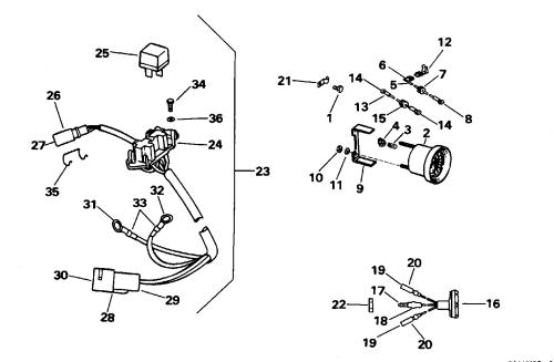 small resolution of brp evinrude en 1996 35 e35qledc 1996 power trim tilt electrical